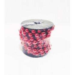 Бусы на елку, шарообразные, диаметр 12 мм, длина 5 м, цвет красный, пластик