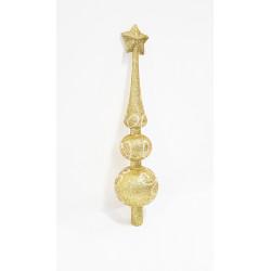 Верхушка на ёлку фигурная с росписью, 29 см, пластик, цвет золотой