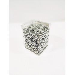 Бусы на елку, цвет серебро, шарообразные, диаметр 9 мм, длина 5 м